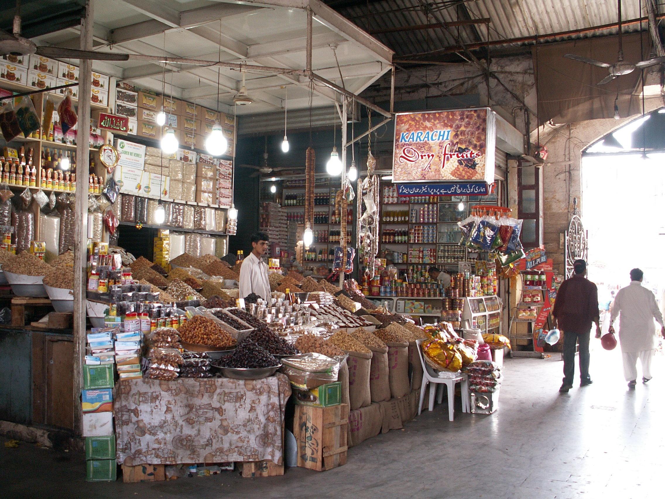 Empress Market dry fruit stall